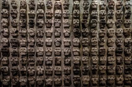 So pflegten die Azteken ihre Tempelanlagen zu dekorieren.