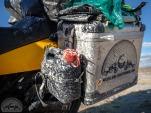 Die guten Touratech-Koffer sind versiegelt mit einer dicken Salzschicht
