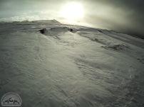 Wenig später stecken wir in tiefem Schnee.