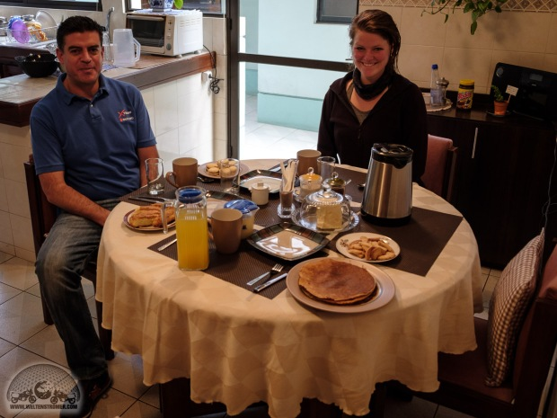 Bolivien, Felicitas, Frühstück, Jaime, La Paz, Motorradweltreise, Pancake, Xtress_DSCF1444_1180